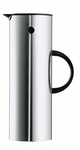 Stelton Thermoskannen en koffiestel voor Beurs, Conferentiezaal, Vergaderruimte in Zilver van stelton, E. Magnussen/A. Jacobsen