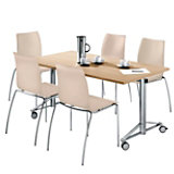T.Meeting / I-Chair, Set: Tafel + 4 x stoel, leer